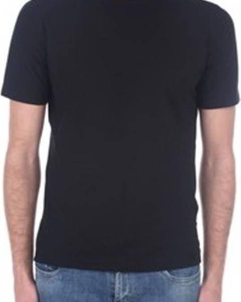 Černé tričko Zanone