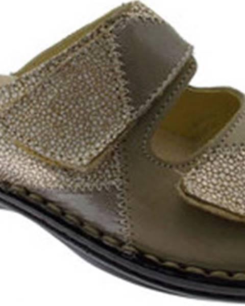 Béžové pantofle Calzaturificio Loren