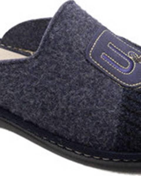 Modré pantofle Uomodue By Riposella