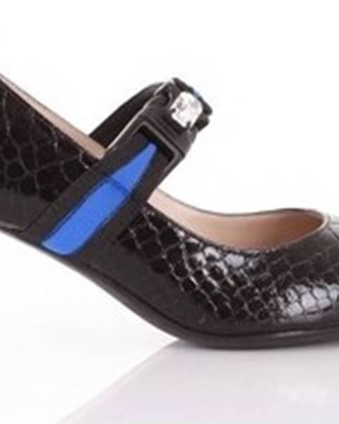 Černé boty Alberto Gozzi