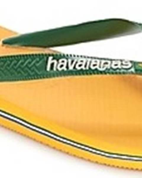 Žluté pantofle havaianas
