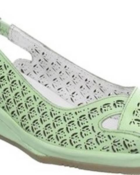 Zelené sandály JANA