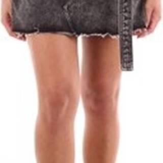 Manila Grace Krátké sukně I9ZN025D1 Černá
