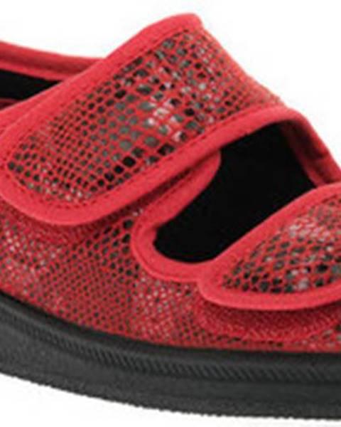 Červené sandály Emanuela