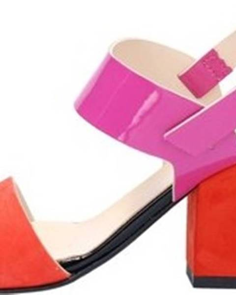 Červené sandály Linea Uno
