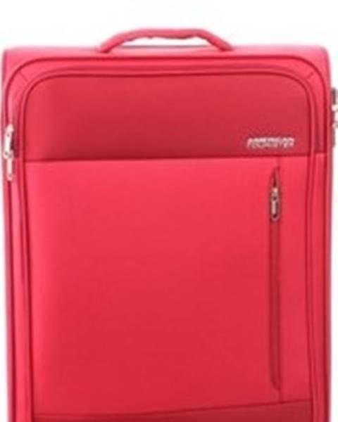 Červený kufr American tourister