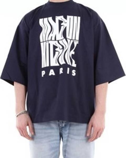 Modré tričko Maison Kitsuné