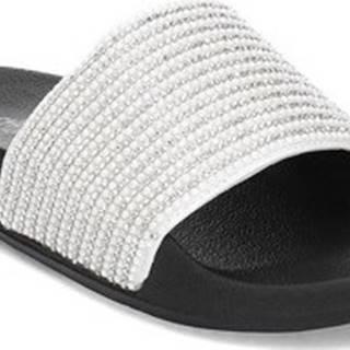 Skechers pantofle Pop Ups Halo Power Stříbrná