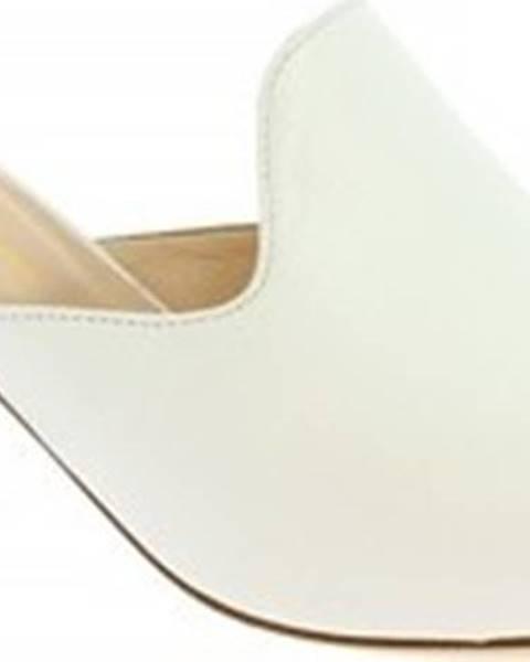 Bílé pantofle Leonardo Shoes