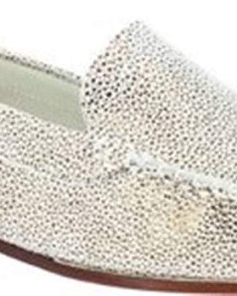 Zlaté mokasíny Leonardo Shoes