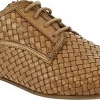 Leonardo Shoes Šněrovací polobotky Q022 KONS SABBIA Béžová
