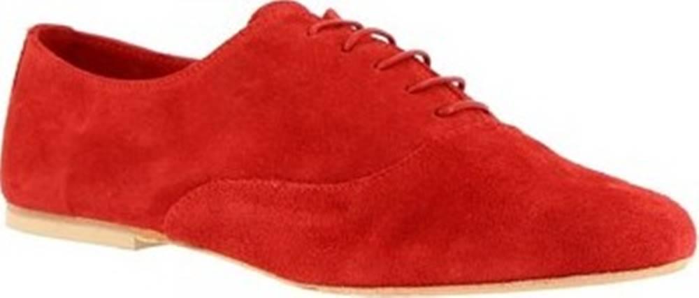 Leonardo Shoes Leonardo Shoes Šněrovací polobotky 936-80 CROSTA ROSSO Červená
