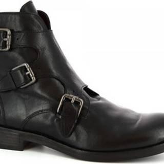 Leonardo Shoes Kotníkové boty 34925/1 PAPUA NERO Černá