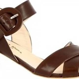Leonardo Shoes Sandály 3367 VITELLO T. MORO Hnědá