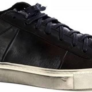 Leonardo Shoes Šněrovací polobotky MARCO/3 MONTONE NERO Černá