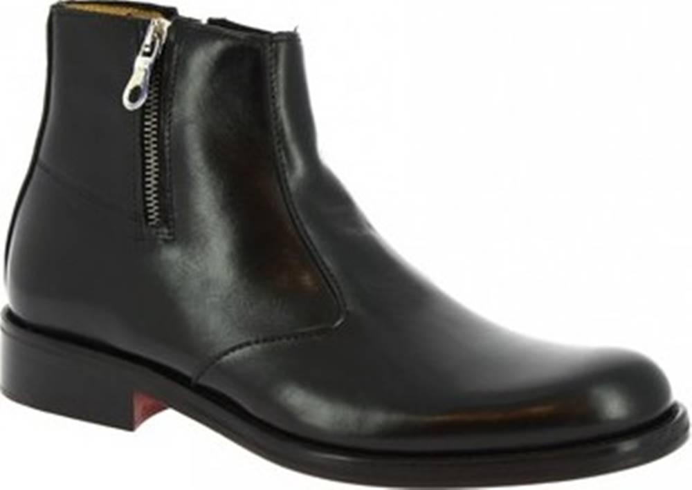 Leonardo Shoes Leonardo Shoes Kotníkové boty T125 SIVIGLIA NERO Černá