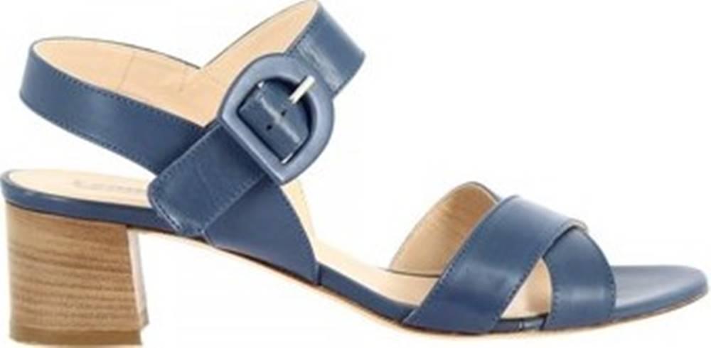 Leonardo Shoes Leonardo Shoes Sandály 3367 VITELLO COBALTO Modrá