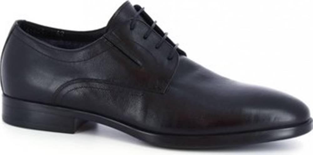 Leonardo Shoes Leonardo Shoes Šněrovací polobotky 41625-I F. 416 GOMMA NEUT N FOD. MERINOS Černá
