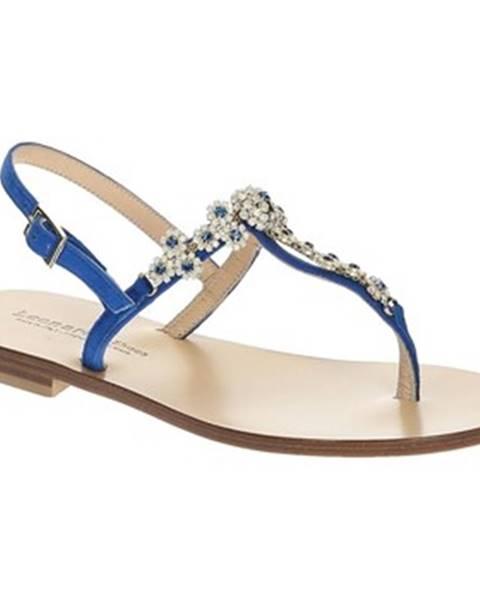 Leonardo Shoes Sandály 16/17 CAM BLUETTE/BLU TC 10 Modrá