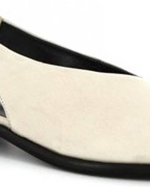 Béžové sandály Leonardo Shoes
