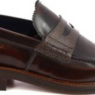Leonardo Shoes Mokasíny 301-16 PE ABBRASIVA TM ruznobarevne
