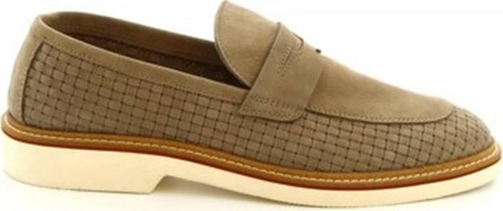 Leonardo Shoes Leonardo Shoes Mokasíny 1099_1 PE NABUK TAUPE