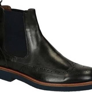 Leonardo Shoes Kotníkové boty U385 PE VITELLO NERO 8260 C024 Černá