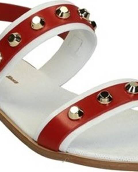 Červené sandály Leonardo Shoes