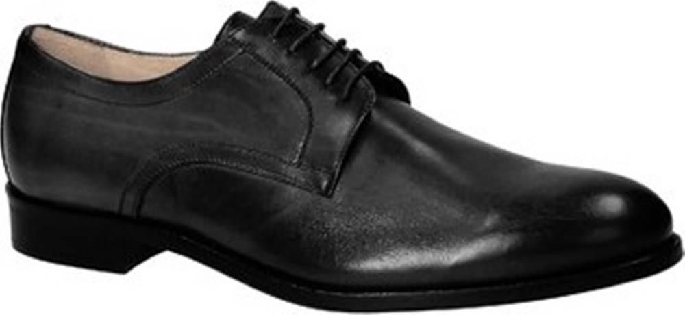 Leonardo Shoes Leonardo Shoes Šněrovací polobotky 05798/FORMA 40 FULL NERO Černá