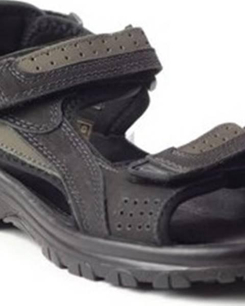 Černé sandály Marco Tozzi