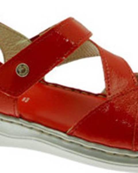 Červené sandály Riposella