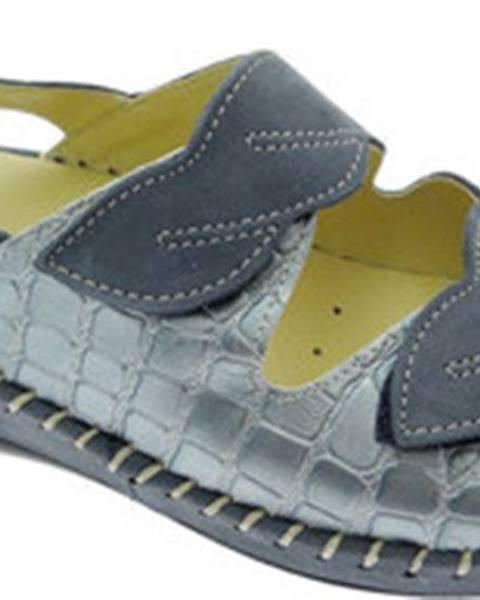 Modré sandály Calzaturificio Loren
