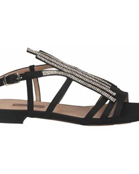 Černé sandály Albano