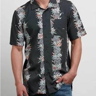 Volcom Košile s krátkými rukávy Men's Palm Glitch Ss Shirt STH Černá