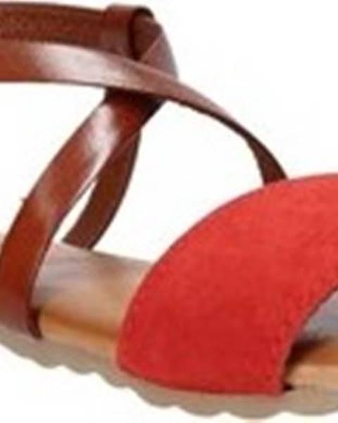 Červené sandály Jeiday
