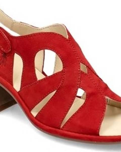 Červené sandály Fly London