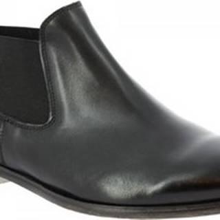 Leonardo Shoes Kotníkové boty 477/40 PAPUA NERO Černá