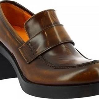Leonardo Shoes Mokasíny 459-69 ABBRASIVA CUOIO Hnědá