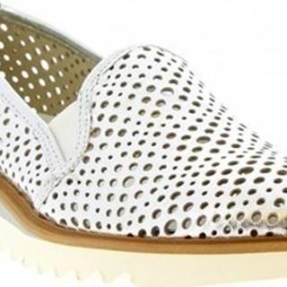 Leonardo Shoes Mokasíny DX30D LAMINATO ARGENTO Stříbrná