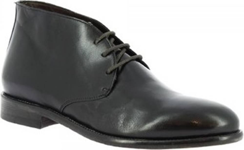 Leonardo Shoes Leonardo Shoes Kotníkové boty 34302/110 PAPUA NERO Černá