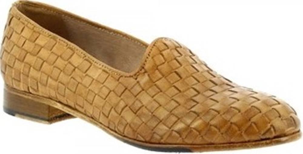Leonardo Shoes Leonardo Shoes Mokasíny 32892/2 PAPUA CUOIO INTRECCIO Hnědá