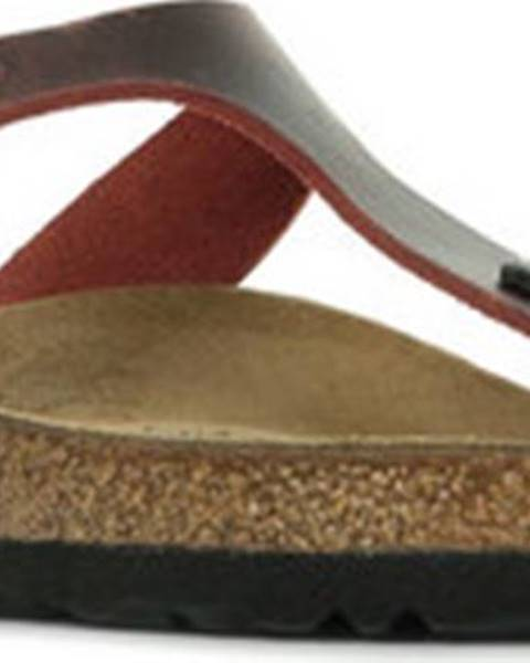 Červené pantofle Birkenstock