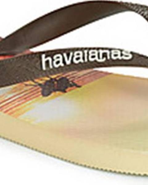 Béžové pantofle havaianas