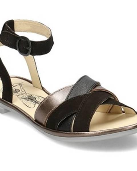 Černé sandály Fly London