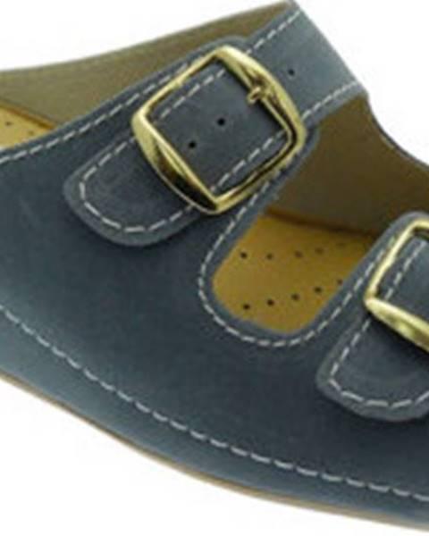 Modré pantofle Jolie