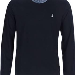 Polo Ralph Lauren Trička s dlouhými rukávy L/S CREW-CREW-SLEEP TOP Černá