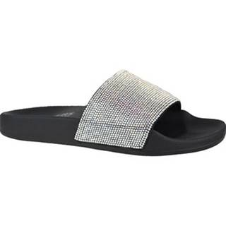 Skechers pantofle Pop Upsstone Age Stříbrná