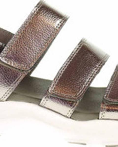 Stříbrné sandály Skechers