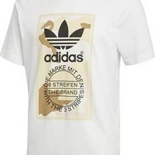 adidas Trička s krátkým rukávem Camo Tee Bílá