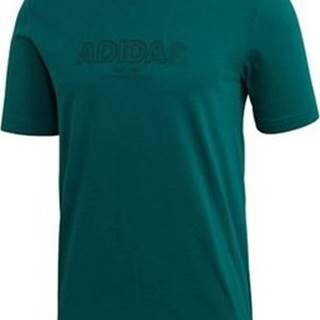 adidas Trička s krátkým rukávem Essentials Zelená